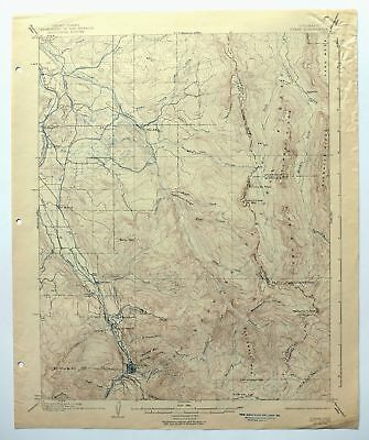 Ouray Colorado Vintage Original USGS Topographic Map 1904 Ridgway 15-minute Topo