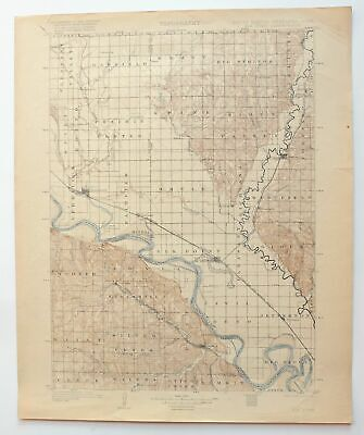 Elk Point South Dakota Iowa Vintage USGS Topo Map 1907 Vermillion Topographic