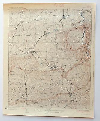 Warm Springs Georgia Vintage 1936 USGS Topo Map Manchester 15-minute Topographic