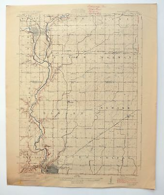 Fort Dodge Iowa Vintage 1923 USGS Topo Map Humboldt 15-minute Topographic