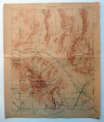 Las Vegas Nevada Historical Antique 1908 USGS Old Topo Map Topographical