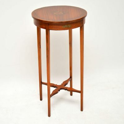 Antique Edwardian Painted Satin Wood Side Table