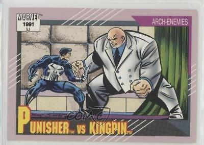 1991 Impel Marvel Universe Series 2 #102 Punisher vs Kingpin Non-Sports Card 5sb