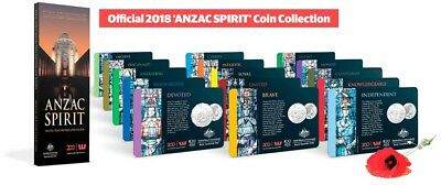 HERALD SUN 2018 Brand NEW Anzac Spirit Coin Collection 15 Coins with FOLDER