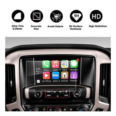 RUIYA 2015-2019 GMC Sierra 8In HD Tempered Glass Car Navigation Screen Protector