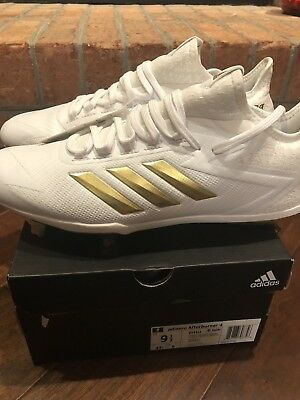 reputable site c71d3 880fb Adidas,Men s Baseball Cleats,adizero Afterburner 4,BY3312,white gold,