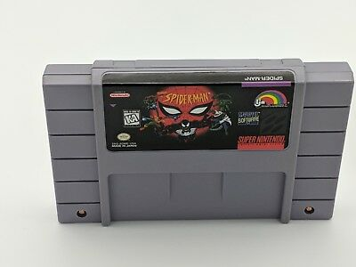 Spider-man 1 Spiderman Lethal Foes Super Nintendo Authentic NRMT condition gamee