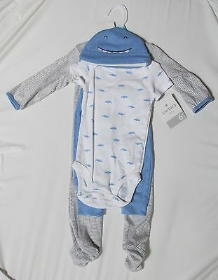 02d48ab6f NEW CARTERS BABY Boy Bodysuit Pants Blue Layette Set Sz 6 Months ...