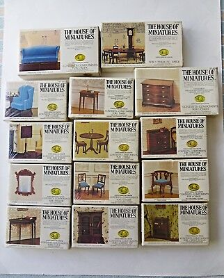 14 House Of Miniatures Dollhouse Furniture Kits Sealed X Acto Collectoru0027s  Series
