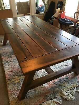 Fabulous Farmhouse Dining Table Seats 8 People Douglas Fir Table Top Machost Co Dining Chair Design Ideas Machostcouk