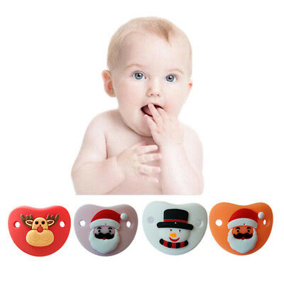 Christmas Newborn Baby Silicone Orthodontic Soother Dummy Pacifier Infant Nipple