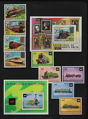 Upper Volta - Two Trains sets, MNH, cat. $ 23.85
