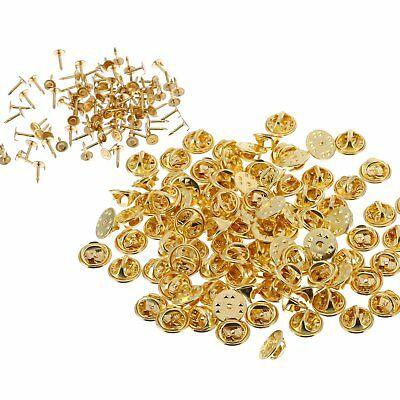 50Pairs Tie Tacks Butterfly Pinch Back Pins Clutch Back Lapel Scatter Pin Gold