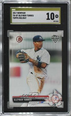 2017 Topps Holiday Bowman #TH-GT Gleyber Torres SGC 10 PRISTINE New York Yankees