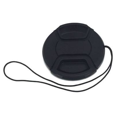 Front Camera Lens Cap Pinch1 43/46/49/52/55/58/62/27/77mm w/Leash For DSLR Cam