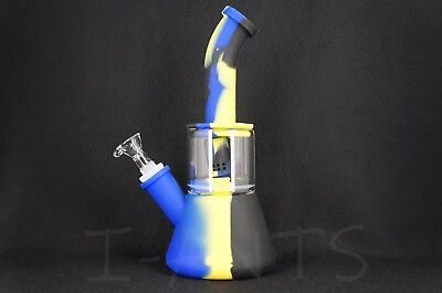 """Quality Silicone Cylinder Hookah Smoke Water Pipe  9"""""""