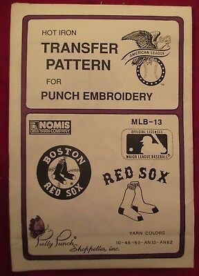 RED SOX Pretty Punch Embroidery Transfer Patterns