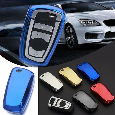 TPU Remote Key Protective Cover Case Shell Holder For BMW 1 3 5 7 Series