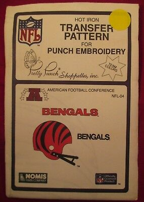 BENGALS FOOTBALL Pretty Punch Embroidery Transfer Patterns