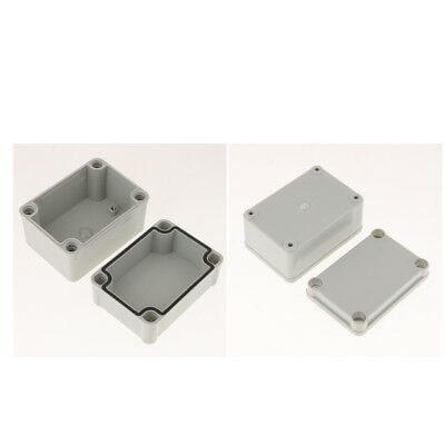 2 Pcs Large Junction Box With Hinged Lid Cover Door Waterproof IP67 ABS