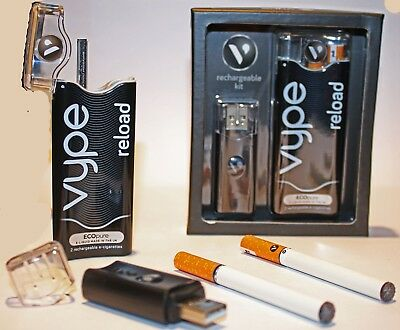 Vype Reload Rechargeable E-Cig E-Stick Starter Kit c/w 2 Batteries & 2 Cartridge