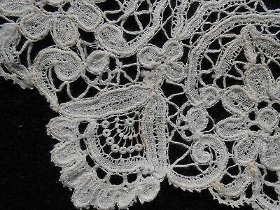 "Six Brussels Lace Doilies 19Th Century 5 1/2"" Round"