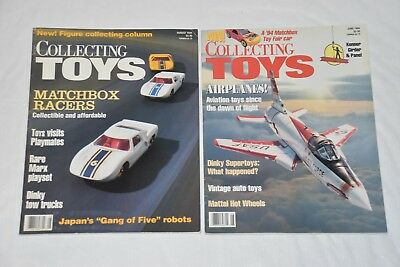 COLLECTING TOYS Magazine Lot: June & August 1994 (2-Issues), Matchbox, Airplanes