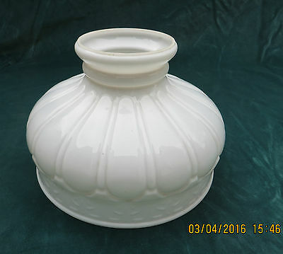 Antique Oil Lamp Glass Shade White