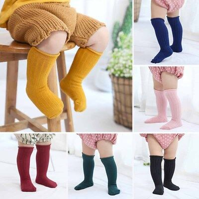 b8e19303a93 Cute Toddler Baby Kids Knee High Socks Winter Cotton Thicken Warm Sock Xmas  Gift