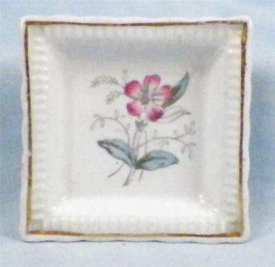 6 Antique Ironstone Butter Pats Burgess & Leigh Pink Flowers Campion As Is