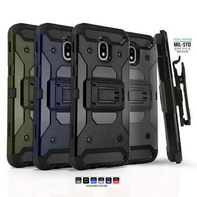 Phone Case for SAMSUNG GALAXY J3 ORBIT (2018), [Tank Series] Cover & Holster