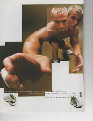 """Nike Air Pillar Print Ad Wrestler Cary Kolat """"what Are You Getting Ready For?"""""""