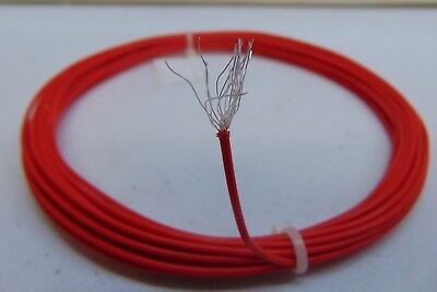 25 feet 20 AWG Silver Plated PTFE Teflon(R) Wire Red 19 strands made in USA SPC