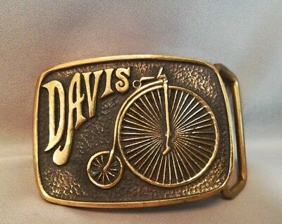 Davis California Solid Brass Belt Buckle -BY D. STEWART & CO. - Vintage