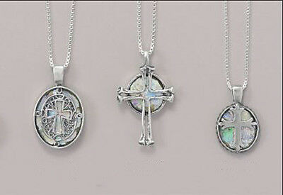 """18"""" Ancient Israel Roman Glass & Sterling Silver Cross Necklace: 3 Choices"""