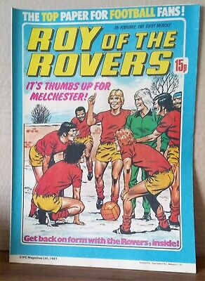Roy of the Rovers Comic in very good condition dated 7th February 1981