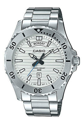 New 2019 Casio MTD1087D-7A Marine Sports | Mens | WHITE Dial | STAINLESS STEEL