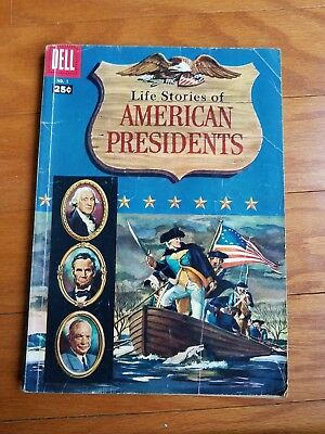 #1 LIFE STORIES of American Presidents (1-34) DELL 1957 SILVER AGE Comic .25