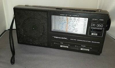 Realistic DX-360 AM FM SW Radio Voice of the World Model by Radio Shack