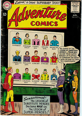 Adventure Comics 'The Legion of Substitute Heroes' #311 1963 DC Comics