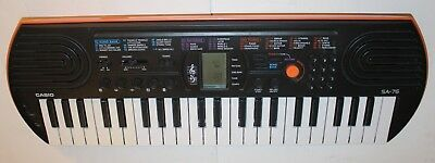 Casio SA-76 Portable Electronic Keyboard Casio Tested Works Piano 100 Tones