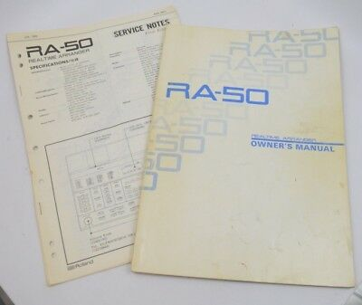 Roland RA-50 Realtime Arranger Owner´s Manual & Service Notes (1st edition)