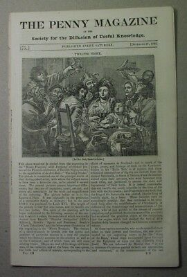 1834 paper: OTTERS, hunting in Scotland; COPPER MINING in CORNWALL; miners' pay