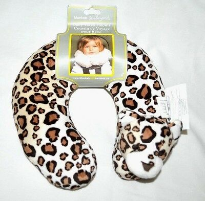 Blankets and Beyond Baby Travel Pillow Leopard New