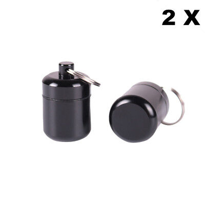 2 X Aluminum Stash Jar Pill Box Airtight Smell Proof Herb Container Spice Jar