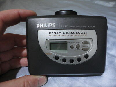Phillips Aq 6547 Stereo Cassette With Am/Fm Radio & Dbb