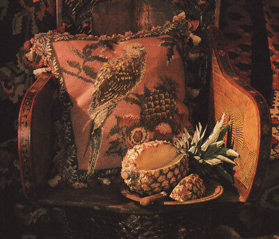 Parakeet and Pineapple Tapestry Needlepoint Chart in Colour Sue Rangeley Ehrman