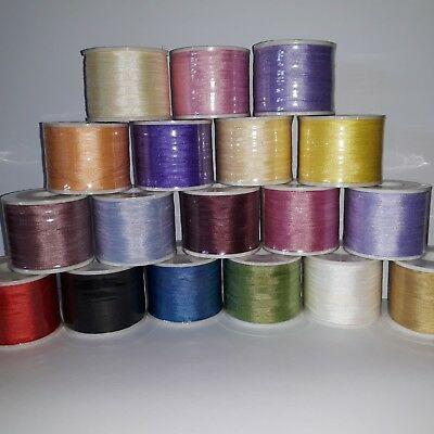 18 metres Assorted Colours 4mm Pure Silk Ribbon Embroidery Craft PLEASE READ!