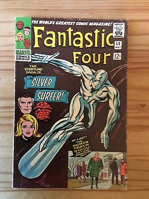 Fantastic Four #50 Marvel  1966 Lee & Kirby, Grade FN+