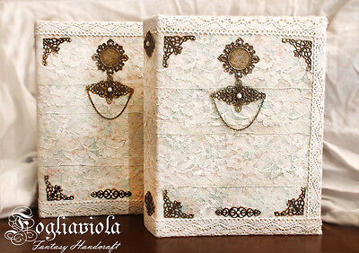 Wedding Photo Book white bride victorian shabby chic lace pizzo merletti vintage